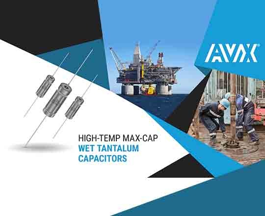 AVX HTMC Wet Tantalum Supercapacitors