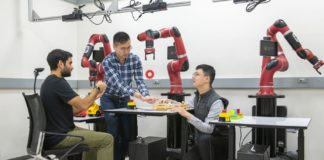 Robots learn tasks from human