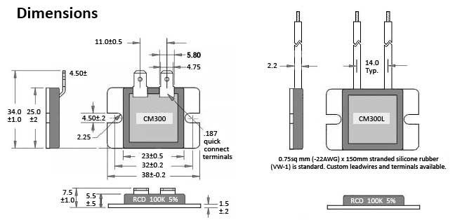 RCD Component Heat-Sink Resistor