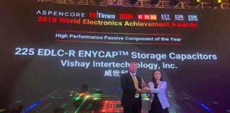 Vishay 2018 AspenCore World Electronics Achievement Award