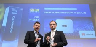 Huawei Wins Intersolar AWARD