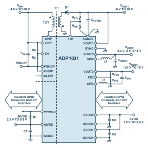 3-Channel, Isolated Micropower Management Unit with Seven Digital Isolators