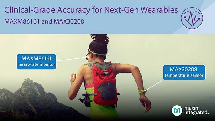 Maxim Wearable Healthcare sensor