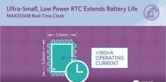 MAX31341B nanoPower RTC