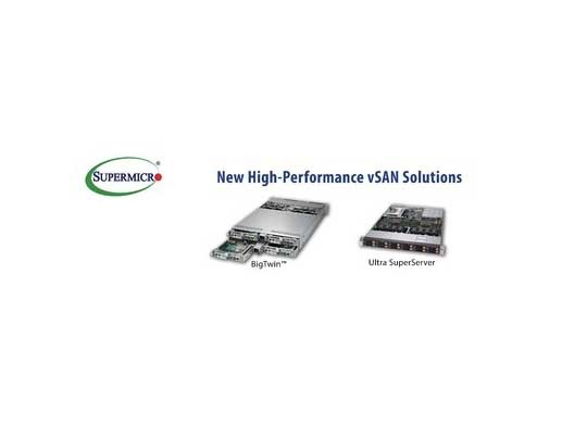 Supermicro Launches New High-Performance vSAN Solution