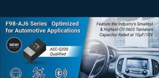 AVX512 F98-AJ6 Series Automotive Capacitors