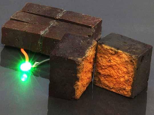 Bricks into Energy Storage Devices