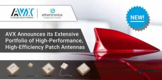 AVX534 Ethertronics Patch Antenna Portfolio