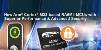 Arm Cortex-M33-based RA6M4 MCU Group