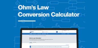 Mouser Electronics, design engineers, Ohm's law calculator, Technical Resource Center,