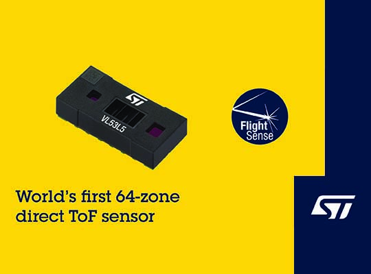 vl53l5 multi zone direct tof sensor