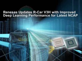 Renesas Updates Popular R-Car V3H with Improved Deep Learning Performance