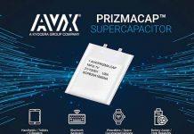 AVX496 SCP Series PrizmaCap Supercapacitors