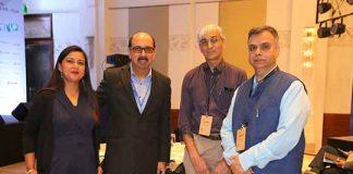 Madhurima Agarwal (Leader, NetApp Excellerator) Ravi Chhabria (MD, NetApp India), Samir Kumar (Partner, Inventus Capital) and Sudhir Sethi (Chiratae Ventures)