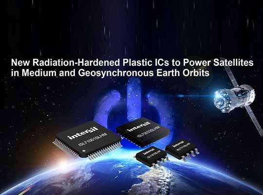 Radiation-Hardened Plastic ICs to Power Satellites