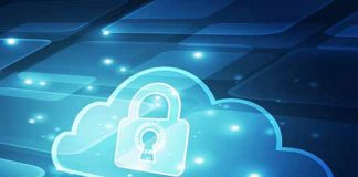 Abstract security cloud technology background. Illustration Vect